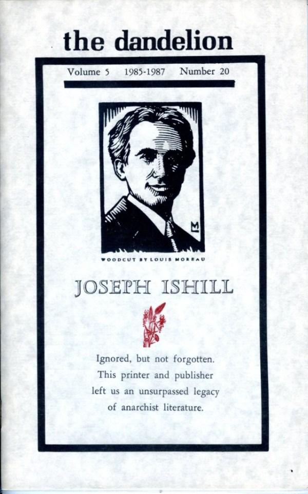Joseph Ishill issue of the dandelion