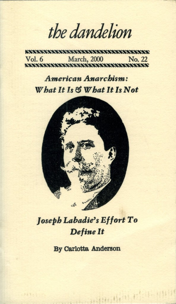 American Anarchism: What It Is & What It Is Not