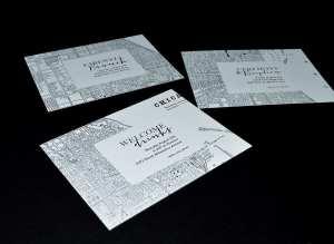 Chicago map wedding invitation suite