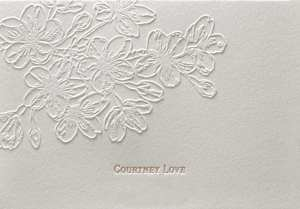 Letterpress printed and embossed note card.