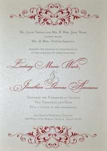 Thermography wedding invitation.