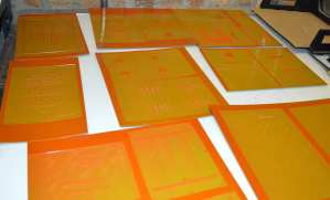 Letterpress plates.