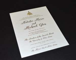Notre Dame wedding invitation