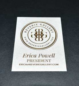 Foil stamped business card