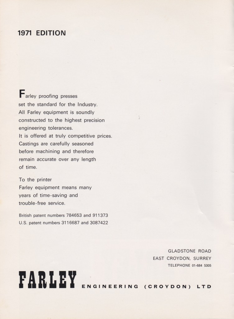 Farley Catalogue 1971-2