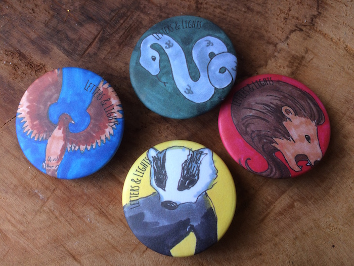 Hogwarts button-set
