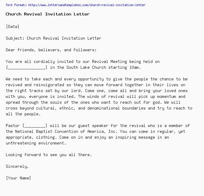 Church Revival Invitation Letter Png