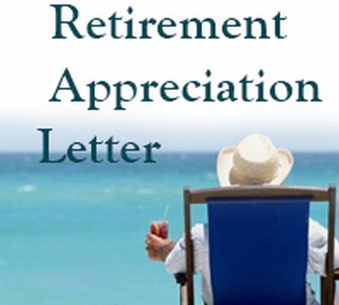 Retirement Appreciation Letter Free Letters
