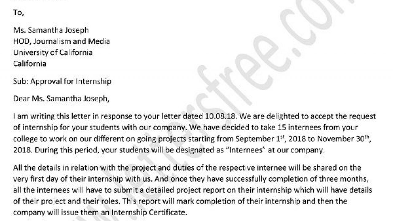 How To Ask For An Extension Of Internship Period Letter / Here is