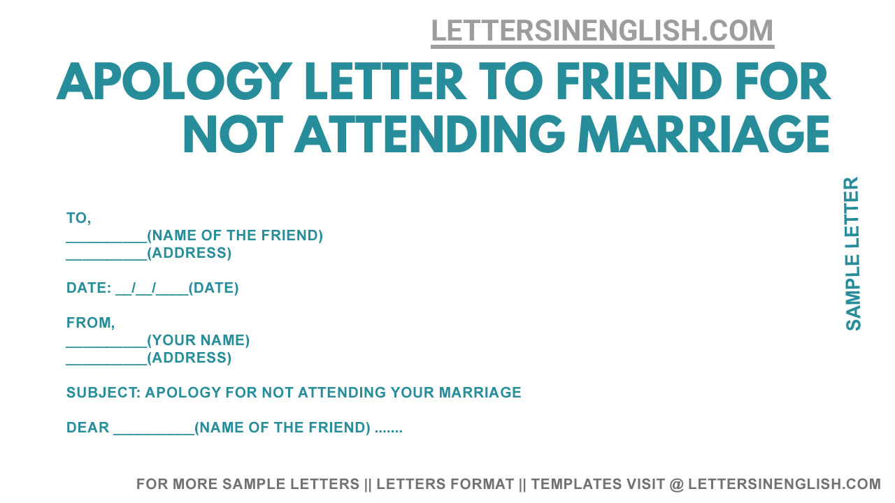 Write a letter of apology to your friend