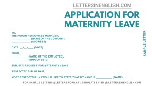 sample letter requesting maternity leave, maternity leave request letter, letter requesting maternity leave