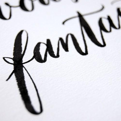 Cadeau Saint Valentin: mots d'amour | Calligraphe Marika Salerno