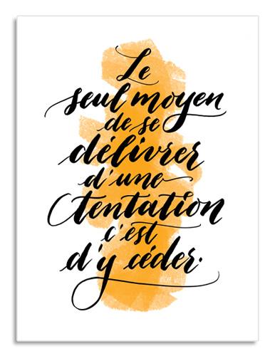 Pour ceux et celles qui aiment cuisiner (ou manger!) : une affiche déco avec une belle citation