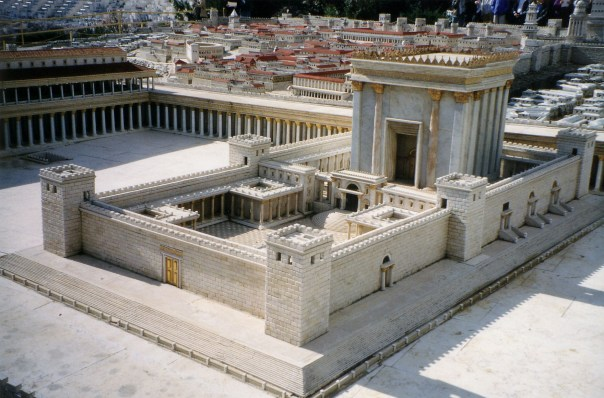 The Second Temple after Herod's renovations (from the Holyland Model of Jerusalem in the Israel Museum)