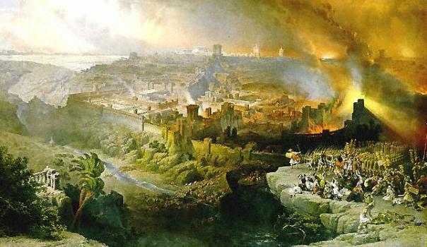The Siege and Destruction of Jerusalem by the Romans Under the Command of Titus, A.D. 70, by David Roberts, 1850