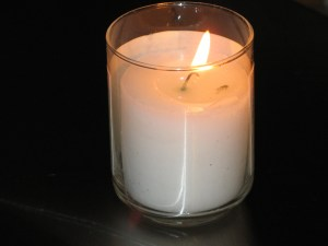 "Yehrtzeit candle. More on those in ""A Nation of Pyromaniacs"""