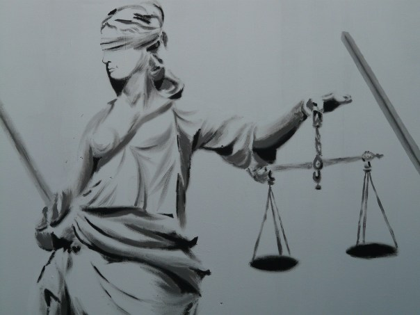Lady Justice was a Greek goddess, but she was not depicted with that blindfold until the 15th century.