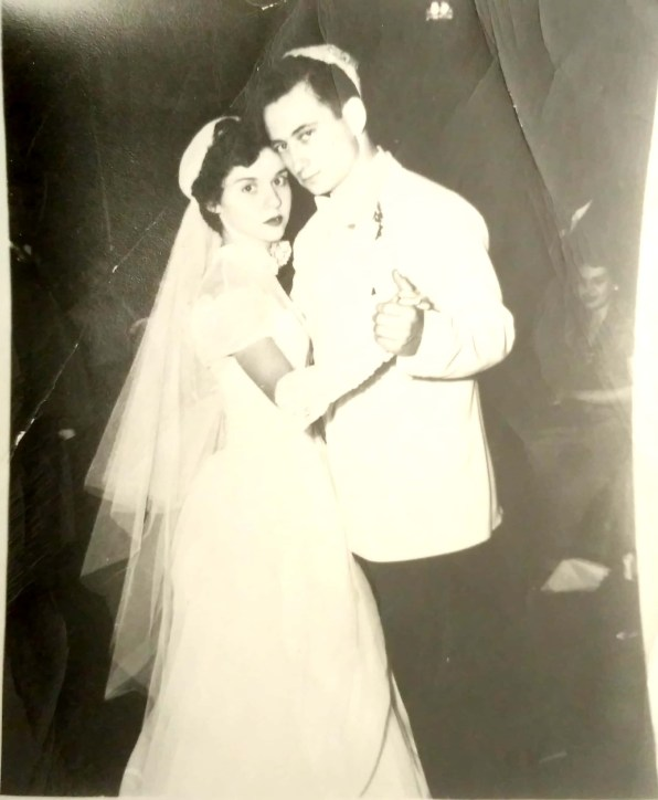 photo of Alvin & Betty Shames on their wedding day