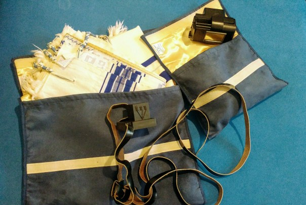 photo of tallit and tefillin