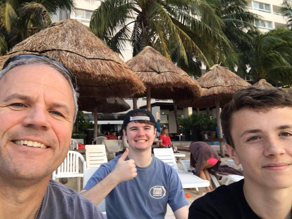 Gavin, Riley and I enjoying a special Spring Break trip.