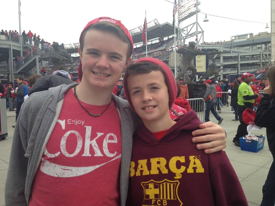 Riley and Gavin at Nationals Park.