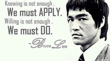 Bruce Lee Discipline Quote