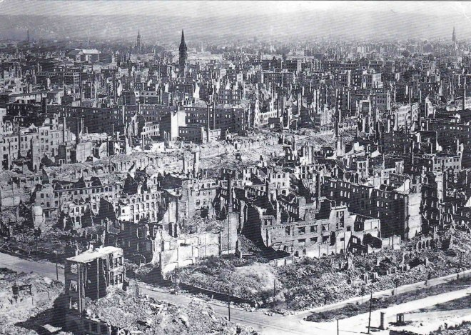 Dresden was bombed and destroyed towards the end of WWII.
