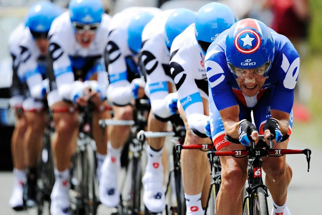 Teamwork is critical for success in the Tour de France.