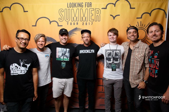 Gavin and I met the band Switchfoot this summer at Wolftrap.