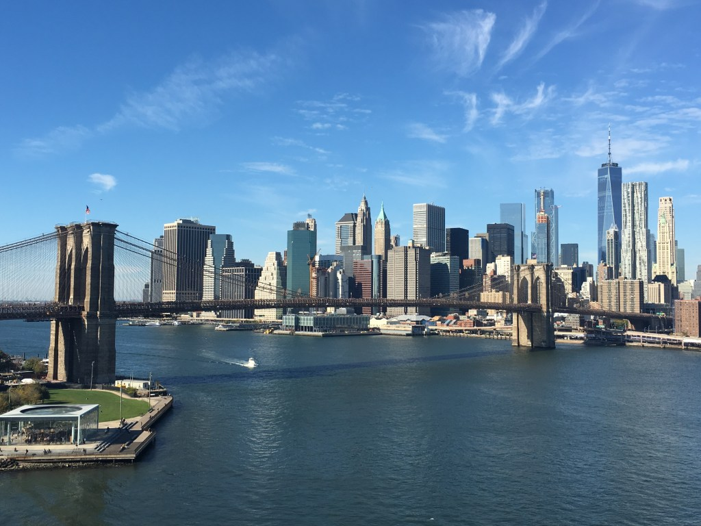 Manhattan Skyline and Brooklyn Bridge taken from Manhattan Bridge
