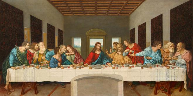Jesus kept his prayer short at the last supper.