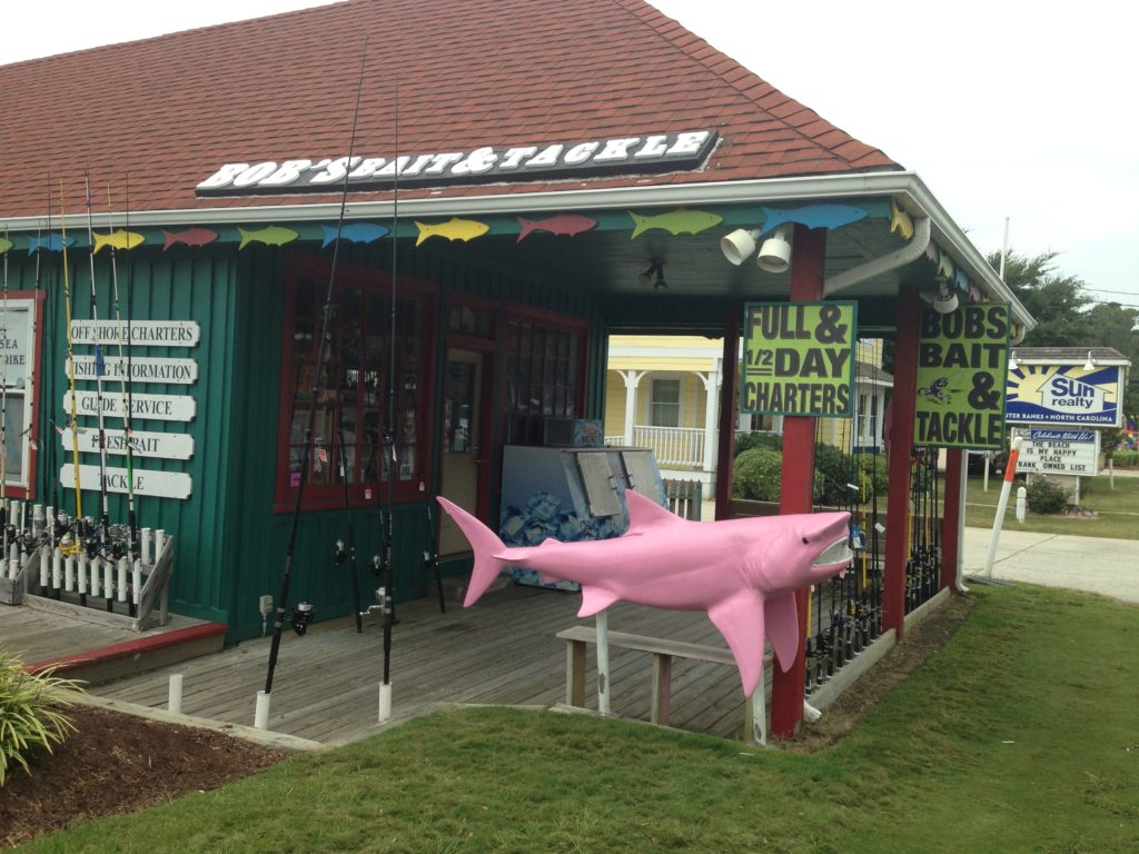 We would get fishing supplies at Bob's bait and tackle shop in Duck, NC.