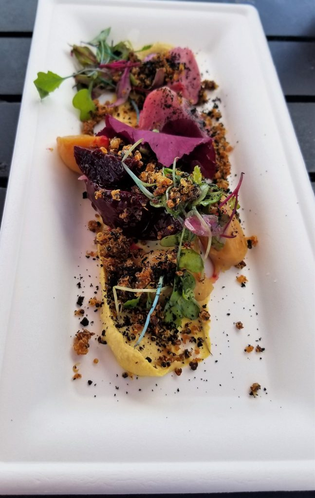 epcot flower and garden roasted beets and cashew cheese