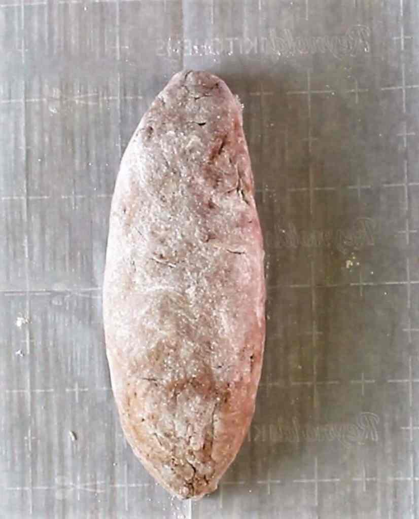 shaping mock rye bread