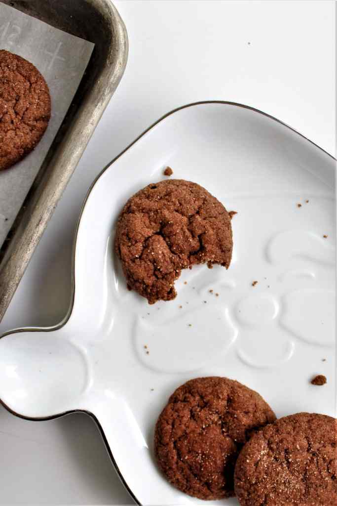 bitten cookie on santa plate