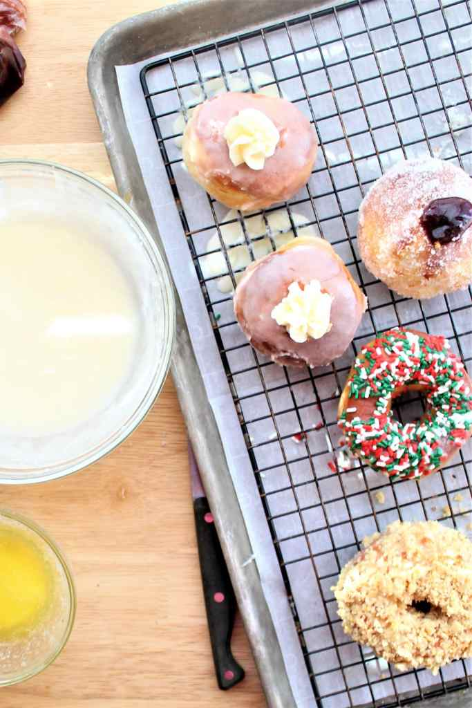 filling and decorating donuts