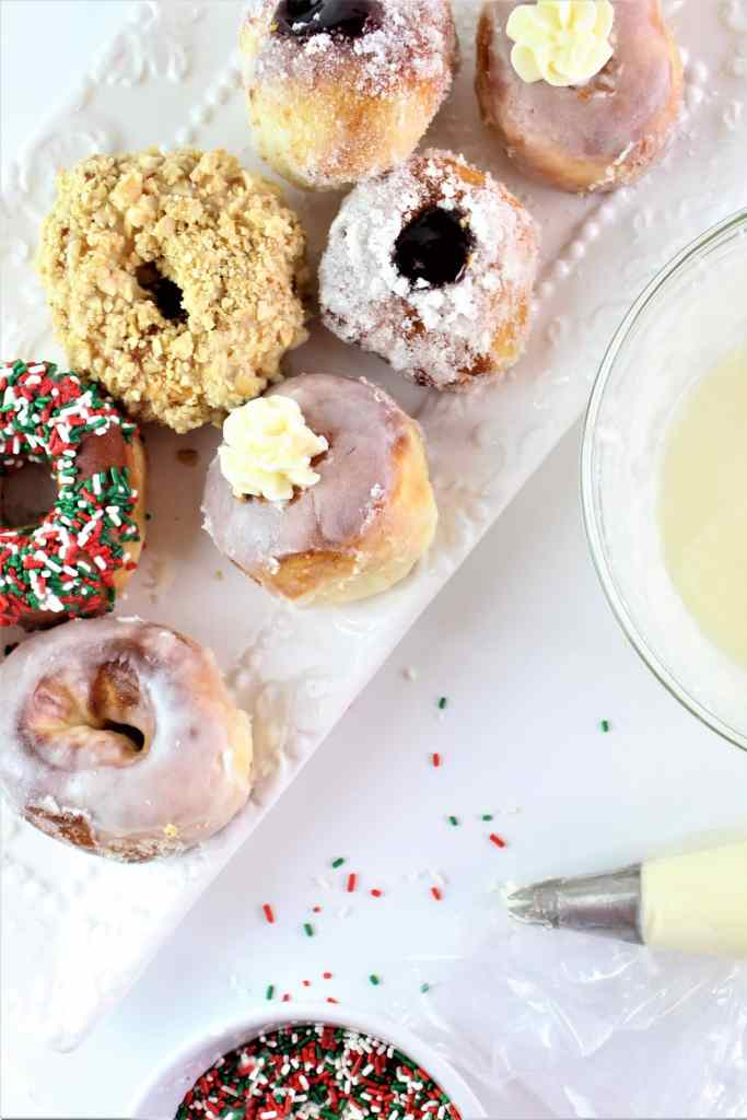 filled and decorated gluten free yeast donuts