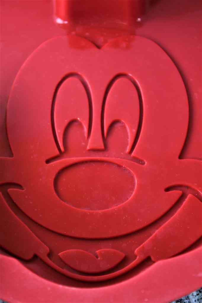 inside of silicone mold with mickey's face