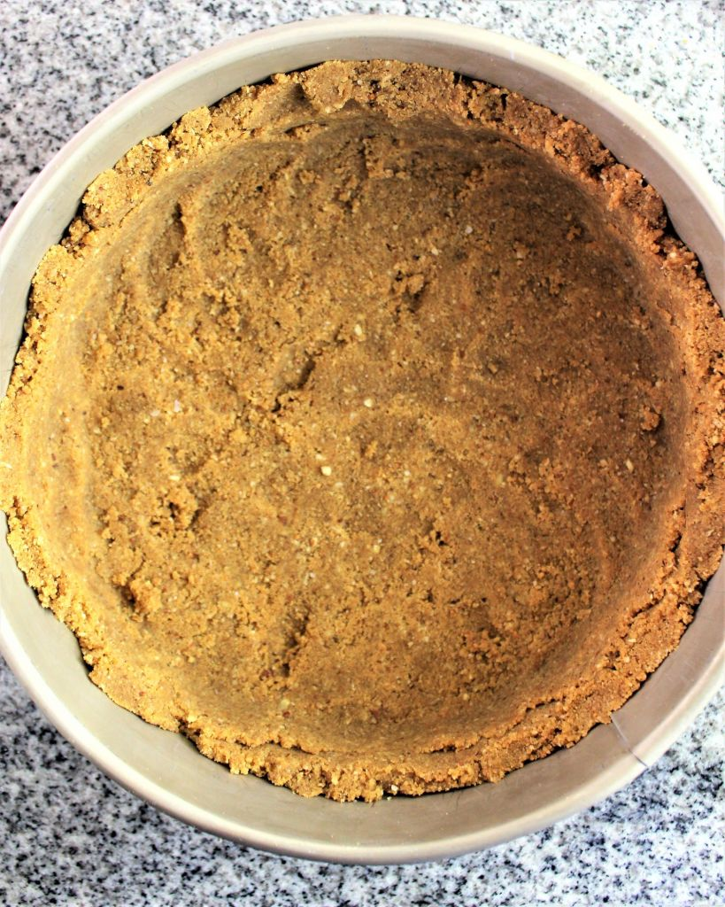 gluten free crust of no bake cheesecake
