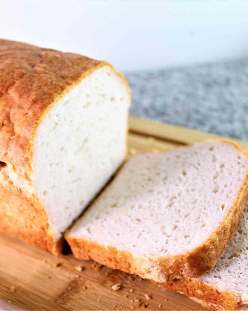 sliced gluten free white sandwich bread