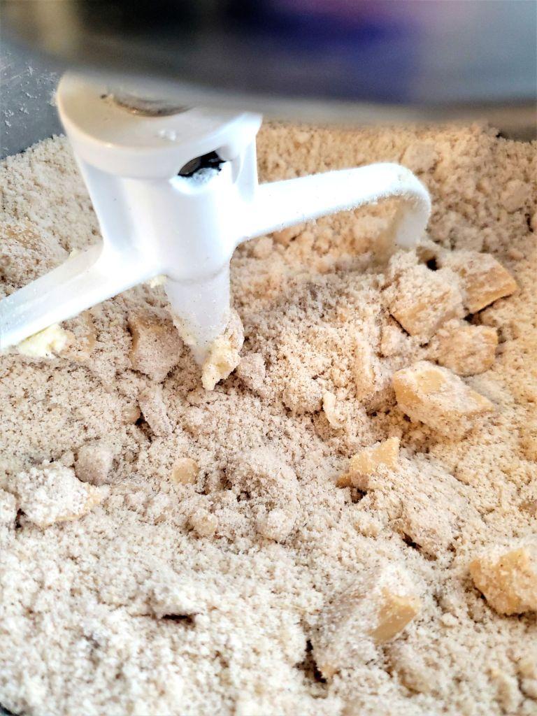 wet sand look after adding flour blend