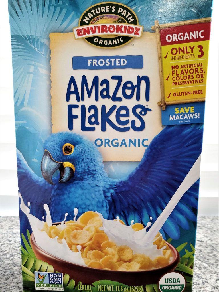 box of amazon flakes