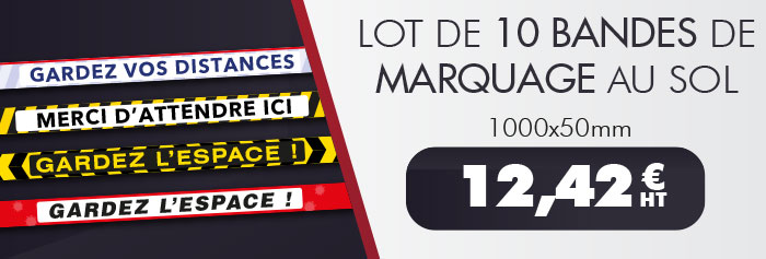 Lot 10 bandes marquage sol