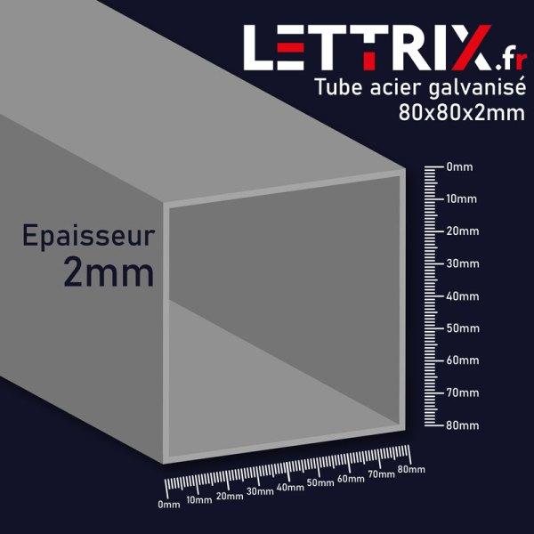 Tube aluminium galvanisé