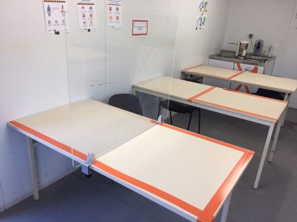 Séparateur table covid