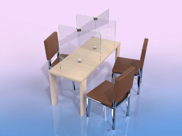 Séparateur de table 6 places