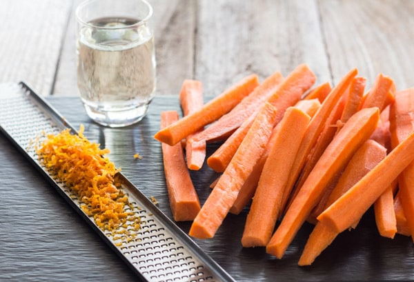 ingredients for Tequila Carrots with Curry Tahini Sauce