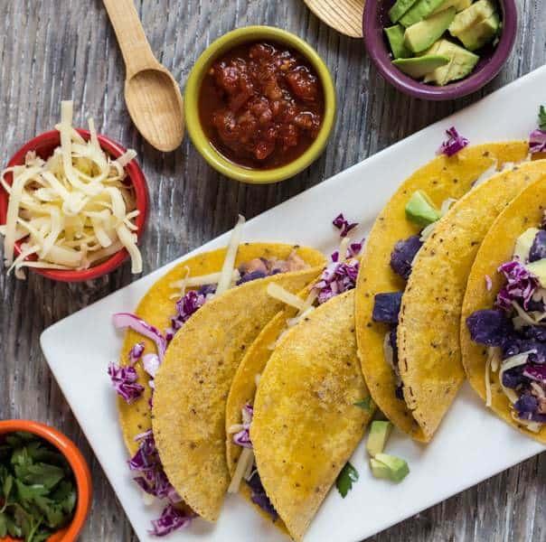 Purple Potato and Bean Tacos