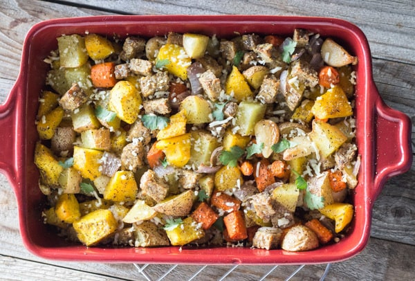 Roasted Fall Vegetables and Tamari Tempeh