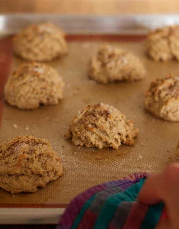 whole wheat cinnamon biscuits for Strawberry Shortcakes with Whole Wheat Cinnamon Biscuits